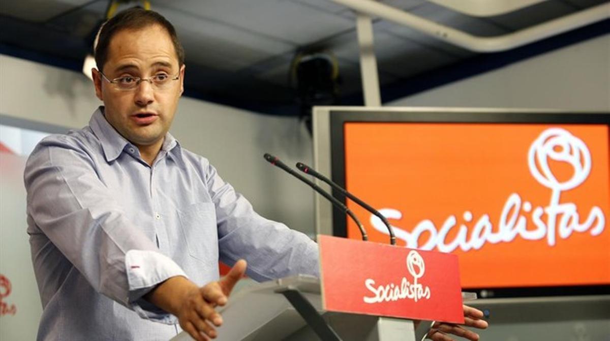 El secretario de organización del PSOE, César Luena.