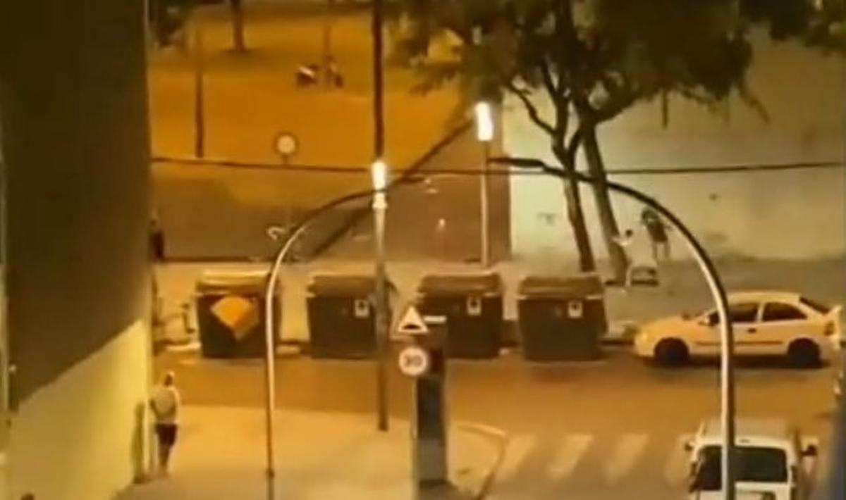 tiroteo en el barrio de la Mina de Sant Adrià
