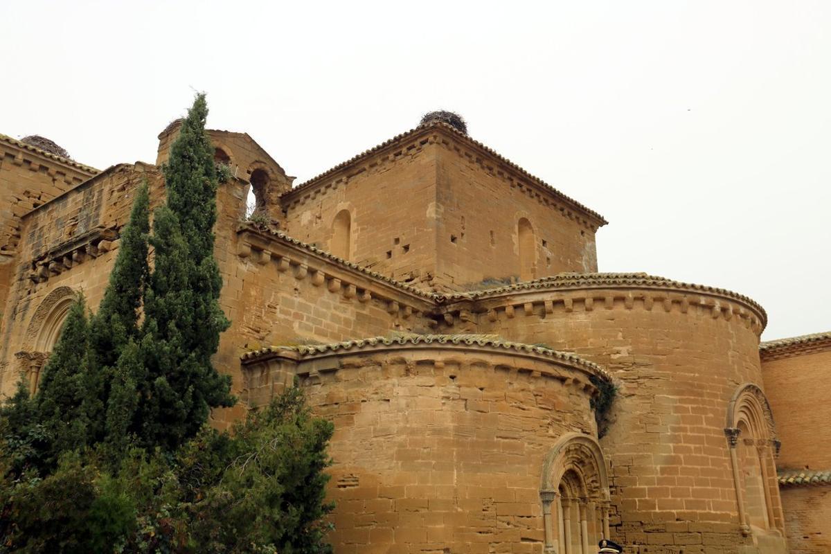 Vista exterior del monasterio de Sijena, en Aragón.