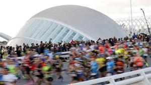 Corredores del maratón de València en el 2019.