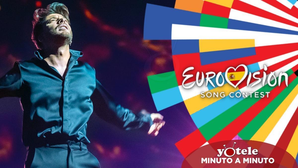 Blas Cantó en el escenario de Eurovisión 2021