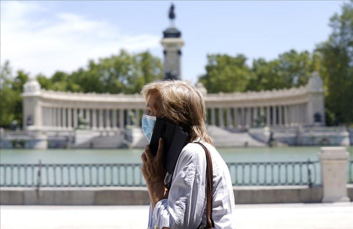Aperturadel Parque de El Retiro en Madrid tras el confinamiento.