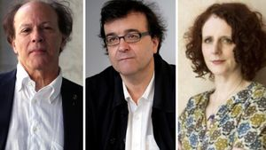 Javier Marias,  Javier Cercas y Maggie O Farrell.