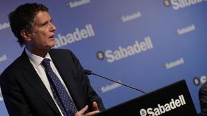 Jaume Guardiola, durante la presentación de resultados semestrales.