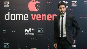 Chino Darín, en la presentación del programa de Movistar+ 'Dame veneno'.
