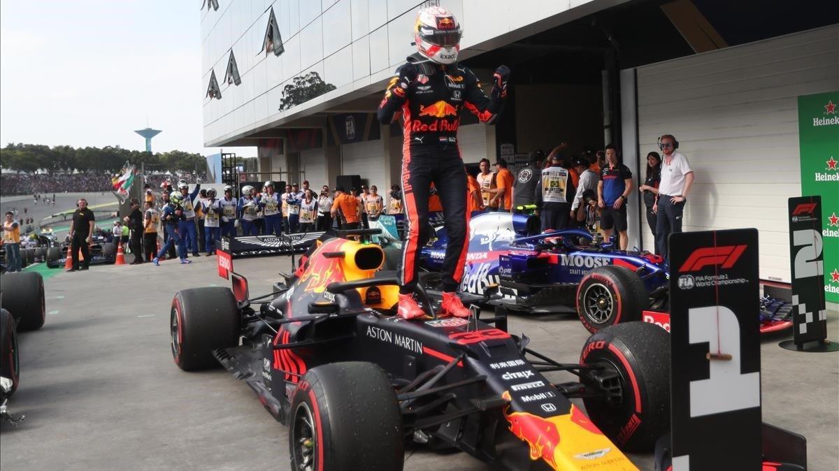 Max Verstappen (Red Bull) gana en Interlagos.