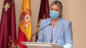 Ana Martínez Vidal en su comparecencia en Murcia el pasado viernes