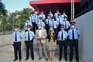 Incorporación de nuevos agentes de los Mossos d'Esquadra a la plantilla de Santa Coloma de Gramenet,