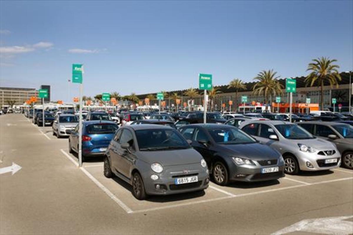 Coches de alquiler en el aeropuerto de El Prat.