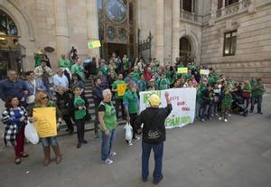 Protesta ante la Audiencia Provincial de Barcelona por el índice IRPH.