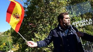 El portavoz en el Congreso de Vox, Iván Espinosa de los Monteros, en la movilización de Madrid