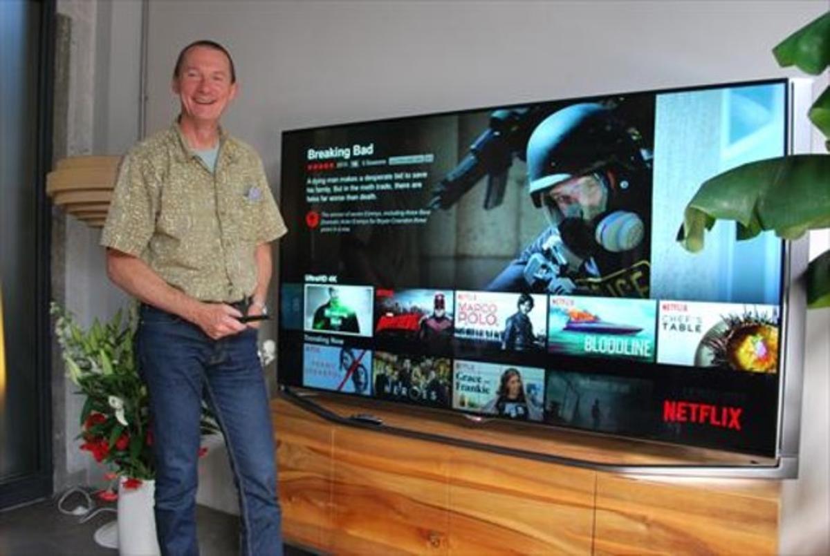 Neil Hunt, director de Producto de Netflix, de visita en Berlín en el marco de la feria IFA.