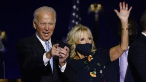 Joe Biden y su esposa Jill Tracy Jacobs.