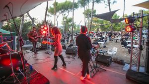 Pantocrator, en el festival Picnic Beat, en una pineda del Poble Espanyol, este sábado.