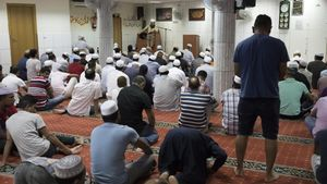 Oración en la mezquita Erasme de Janer, en Barcelona.