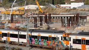 BARCELONA 11 11 2020 Estos dias se ha detenido a 90 grafiteros  En la foto tren con grafitis  Sagrera    FOTO  ALVARO MONGE