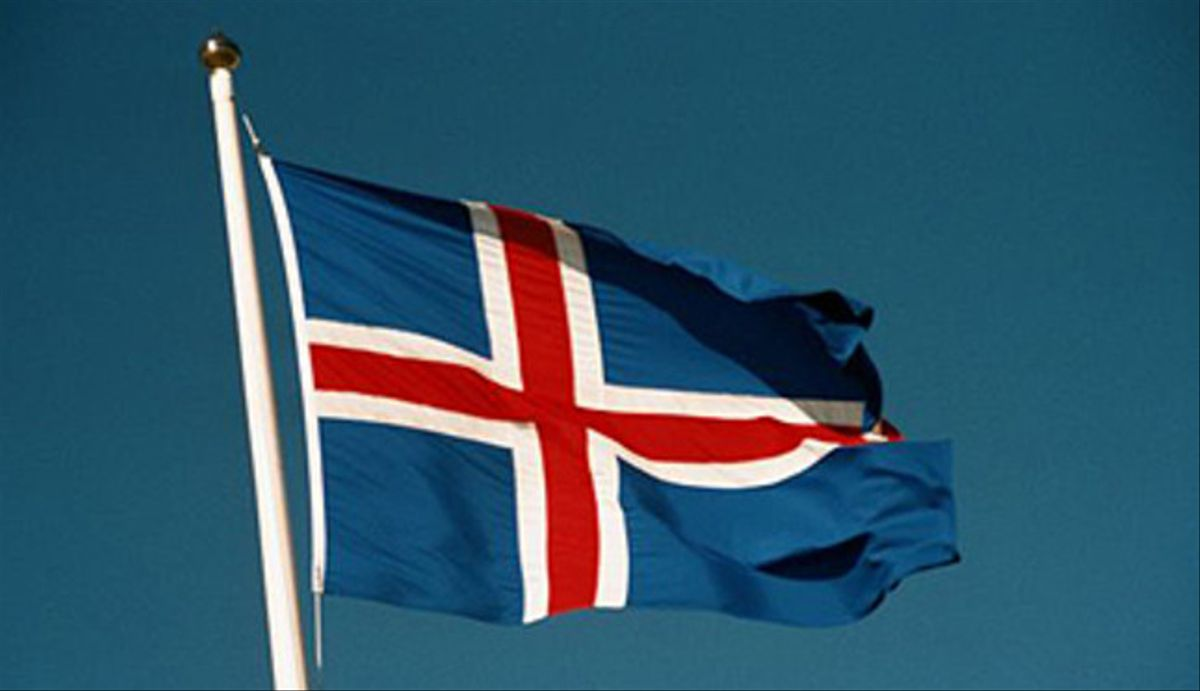 La bandera de Islandia.