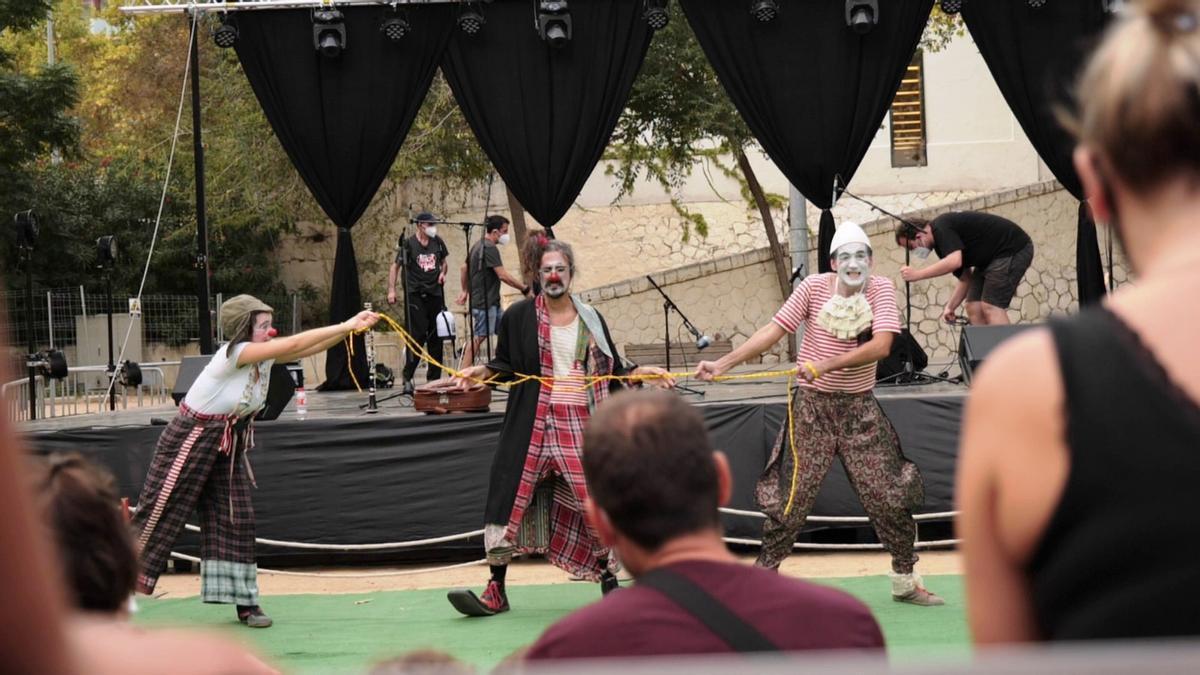 Imagen de un espectáculo circense durante la edición del año pasado.