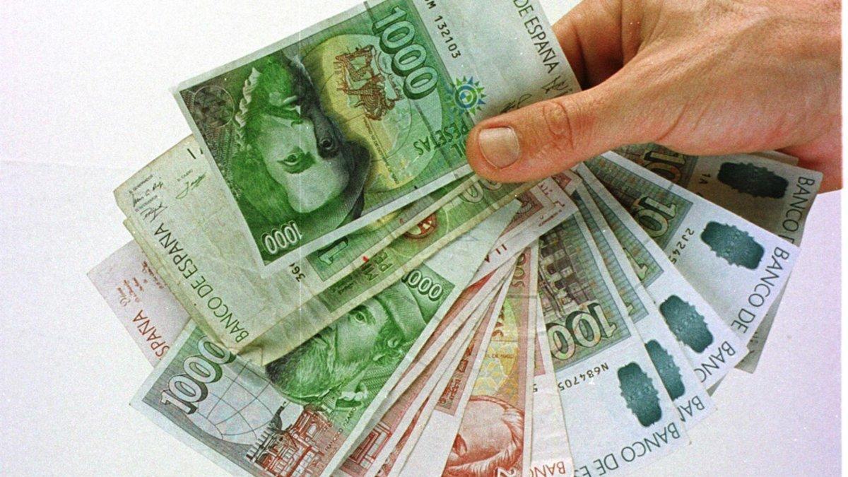 Billetes de peseta.
