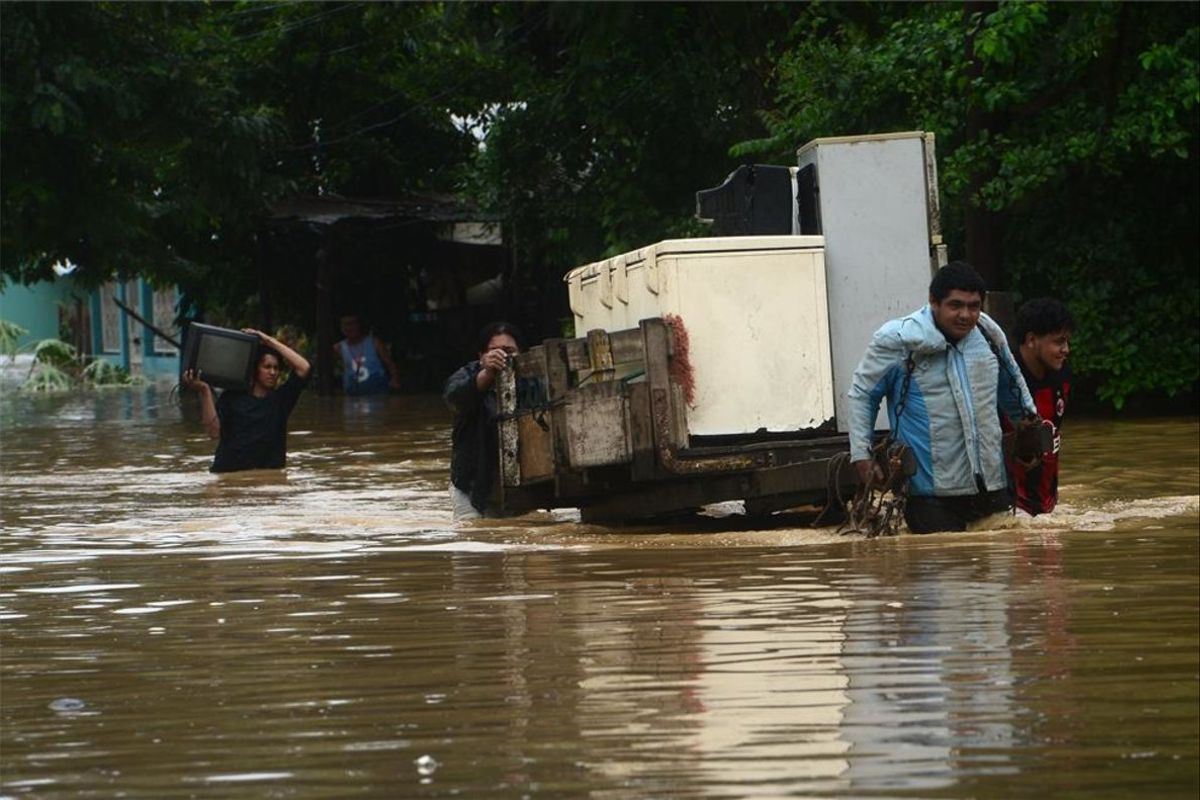 Inundaciones por la depresión tropical Eta en Guatemala.