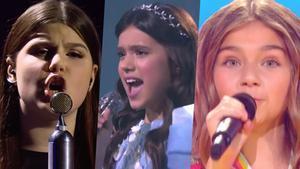 Representantes de Bielorrusia, Rusia y Francia en Eurovisión Junior 2020.