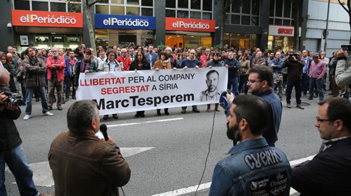 Nueva concentración de apoyo a Marc Marginedas.