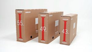 Embalaje ecológico para las nuevas gamas de TV Samsung.