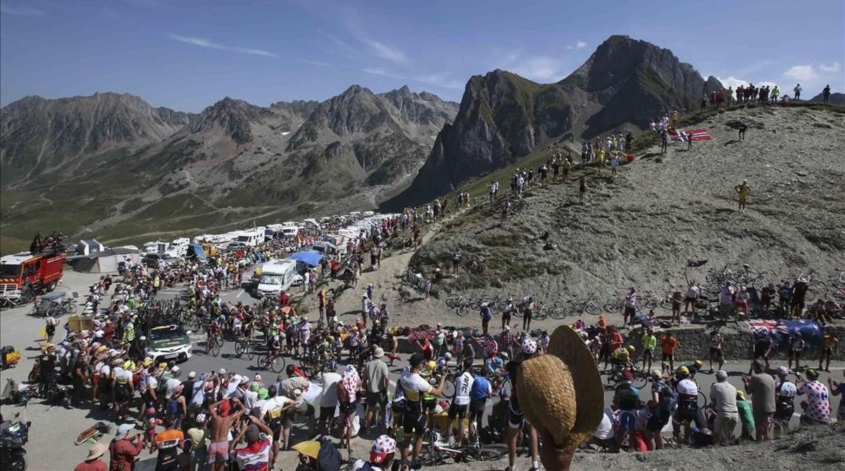 La ascensión al Tourmalet, en el Tour del 2015.