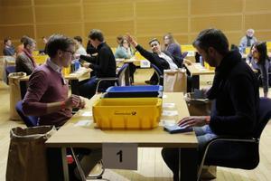 Recuento de votos de las bases del SPD en Alemania.