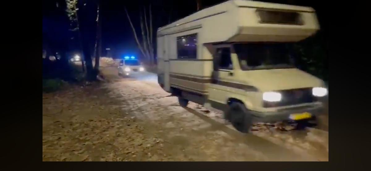 Caravanas desalojadas en Dosrius.