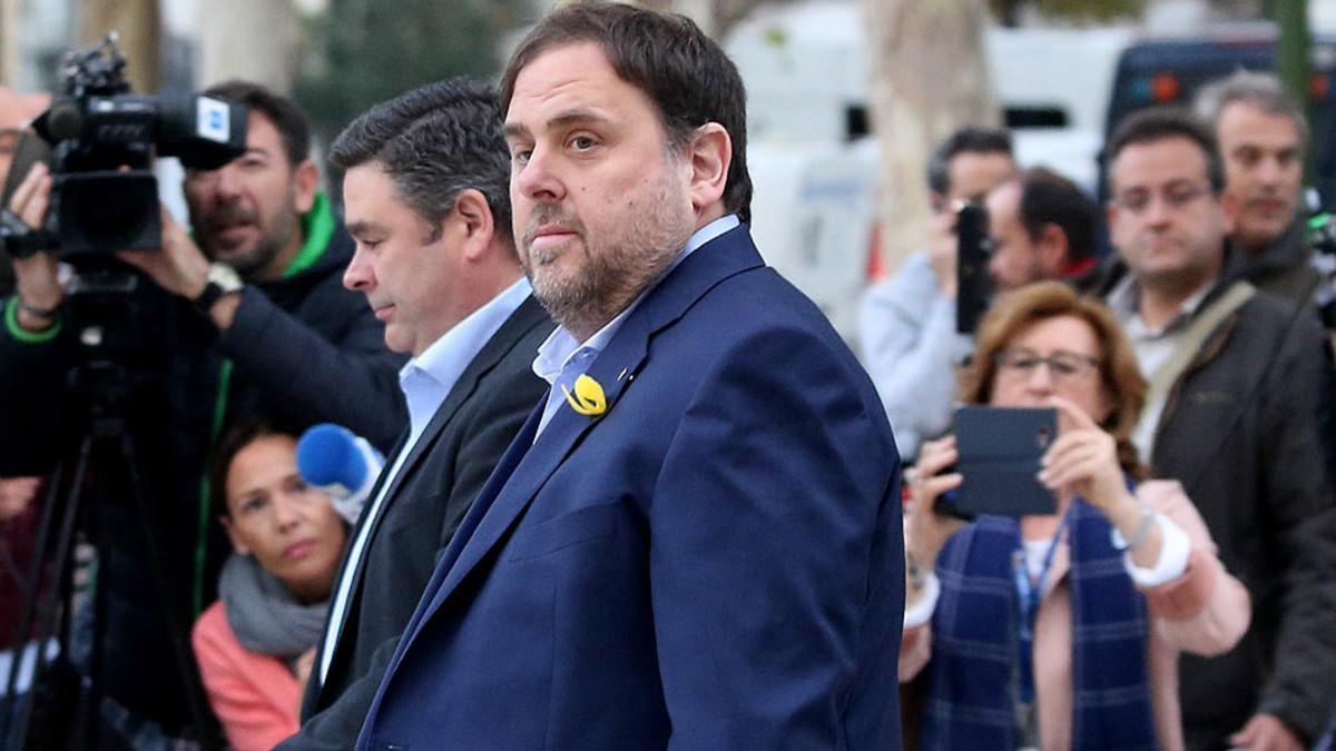 Oriol Junqueras, a su llegada a la Audiencia Nacional, el pasado 2 de noviembre.
