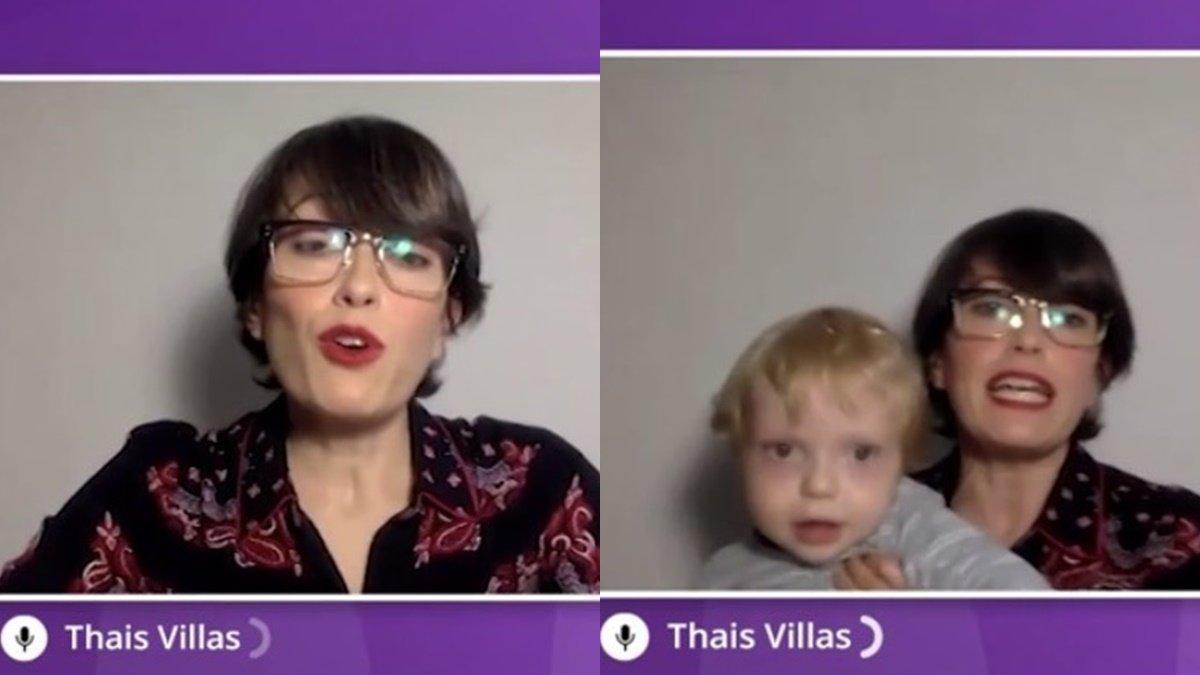 """El hijo de Thais Villas se cuela en una conexión para 'El Intermedio': """"Vais a flipar"""""""