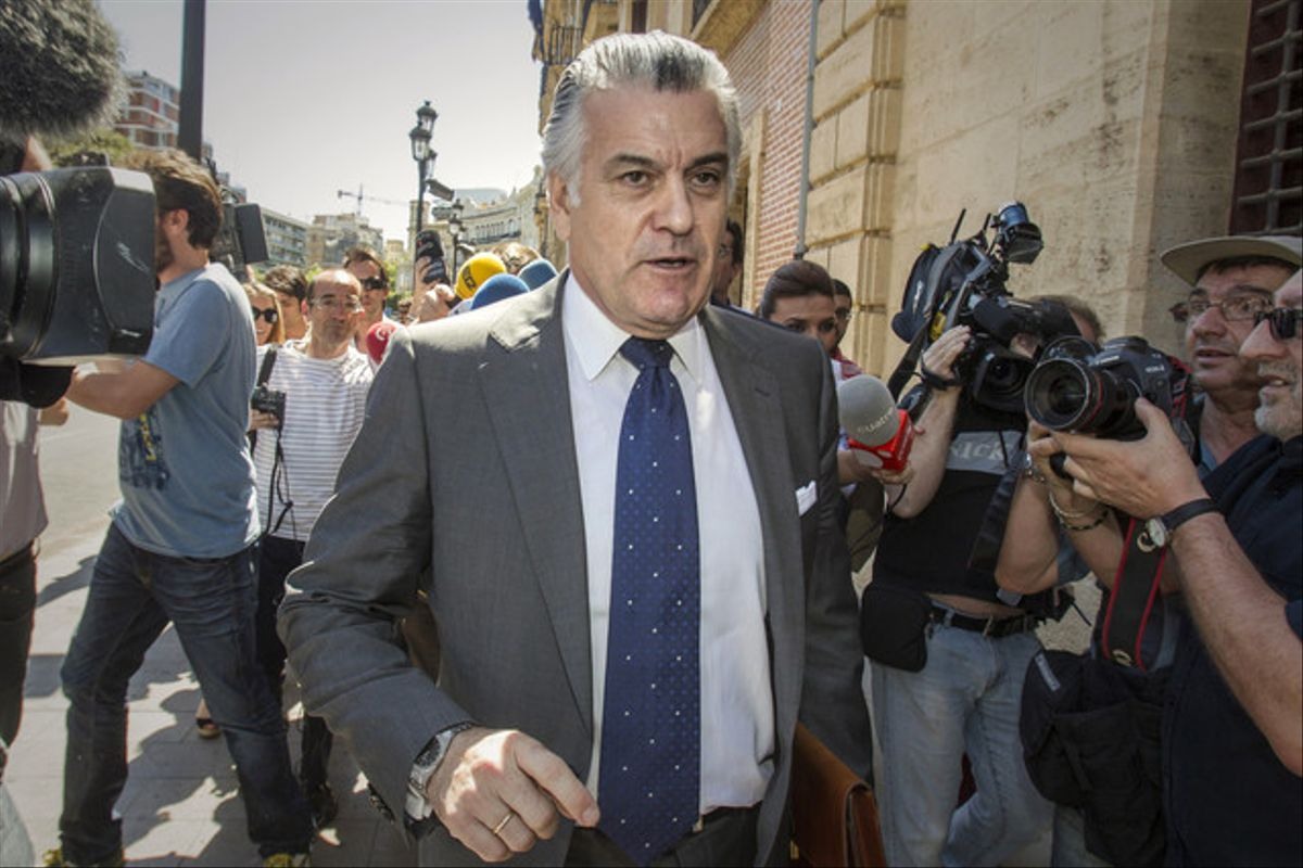 Bárcenas acude a declarar el pasado mayo por el 'caso Gürtel' a los juzgados de Valencia.