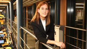 Jéssica Albiach en la redacción de El Periódico
