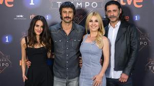 Macarena García, Hugo Silva, Cayetana Guillén Cuervo y Nacho Fresneda, algunos de los actoers de 'El Ministerio del Tiempo', de TVE.