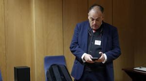 Javier Tebas, en un acto en Madrid la semana pasada.
