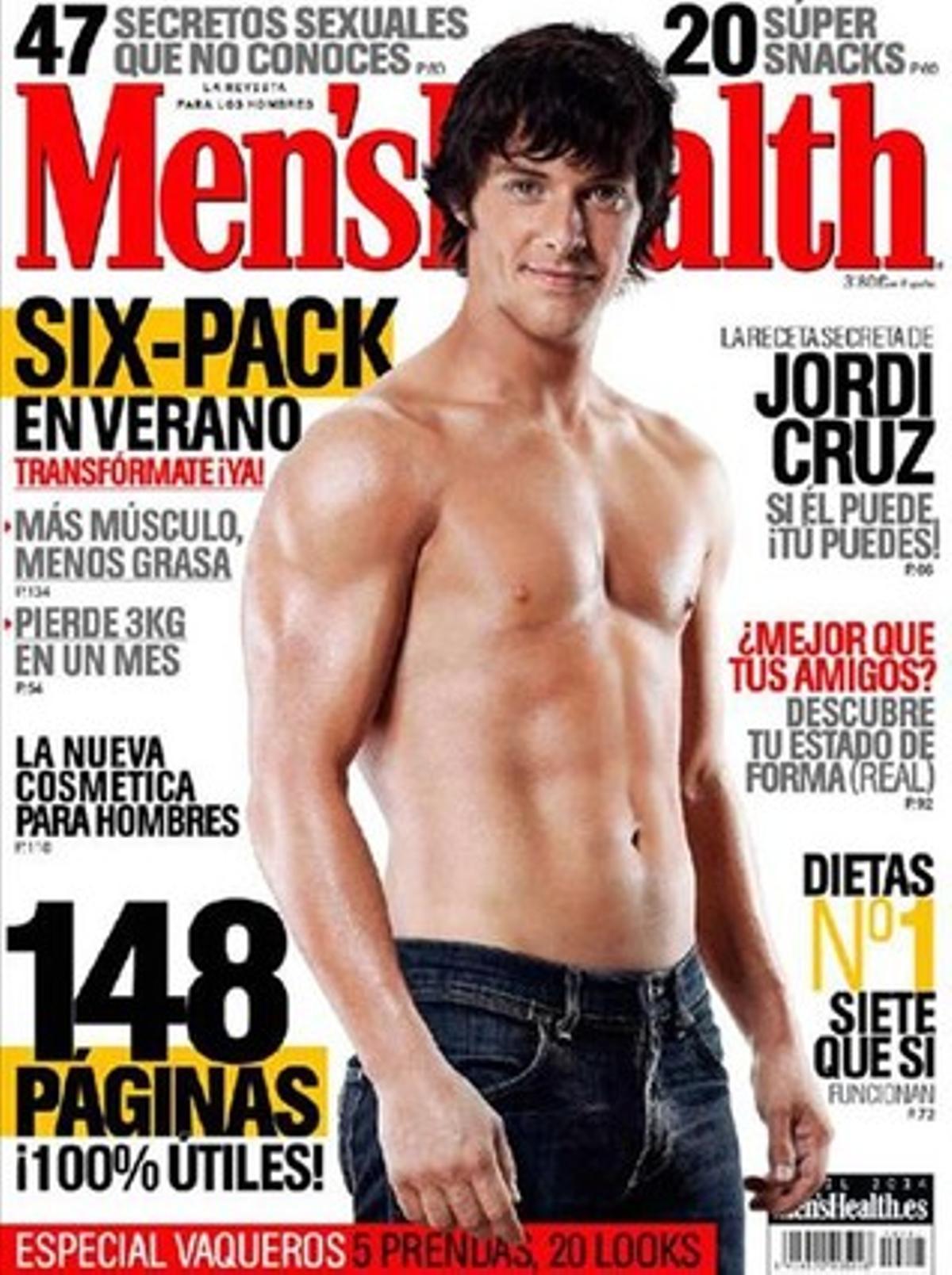 El chef manresano Jordi Cruz, portada de la revista 'Men's Health'.
