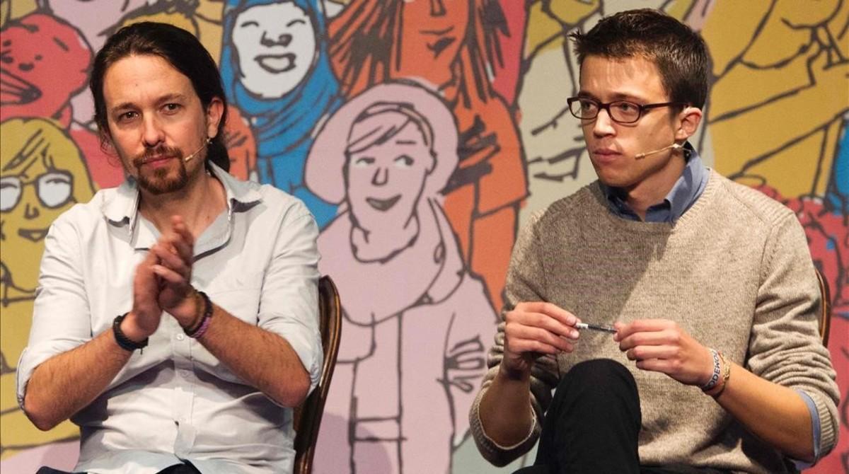 El secretario general de Podemos, Pablo Iglesias, y el secretario de acción política,Íñigo Errejón.