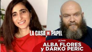 Alba Flores y Darko Perić, protagonistas de 'La casa de papel' (Netflix).
