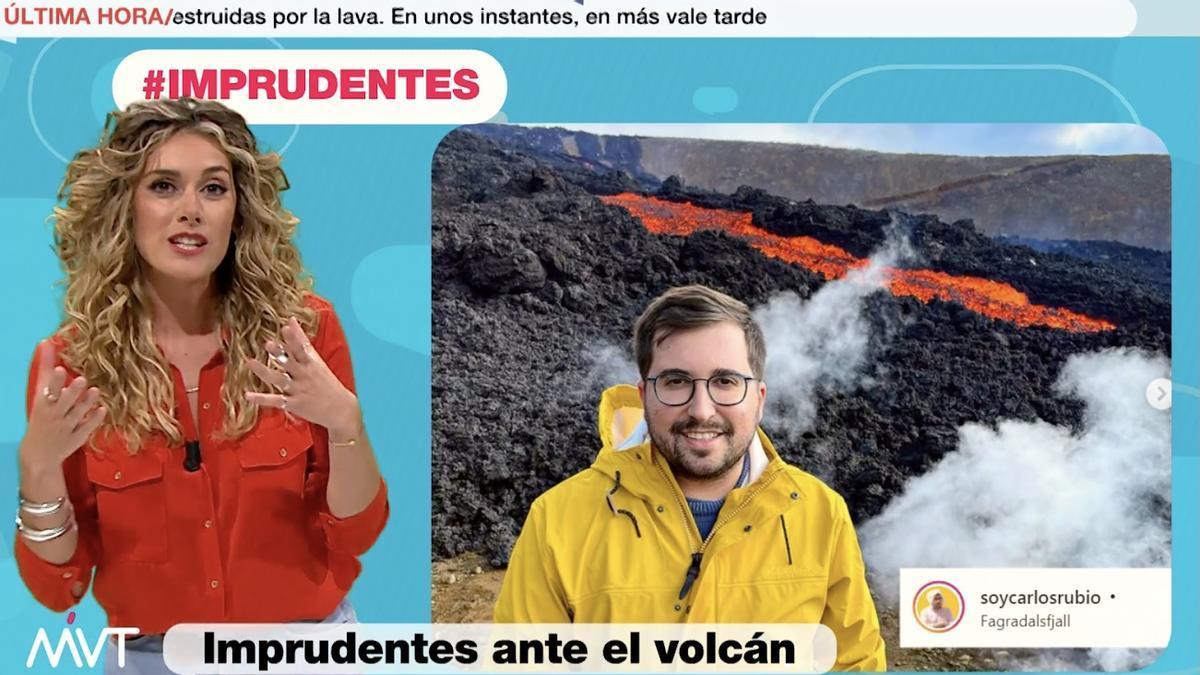 'Más vale tarde' tacha de imprudente por el volcán de La Palma a un chico que en realidad estaba en Islandia