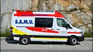 Una ambulancia del Samu de la Comunidad Valenciana.