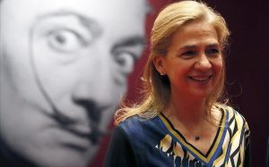 La infanta Cristina, el lunes en Moscú en la presentación de una exposición sobre Salvador Dalí.