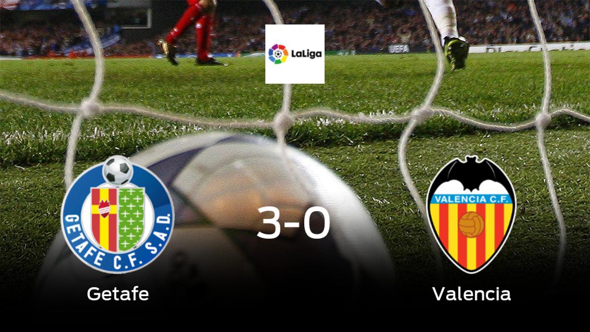 El Getafe suma tres puntos tras pasar por encima del Valencia (3-0)