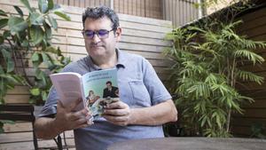 Jordi Punti, en la librería Laie.