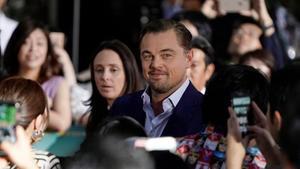 Leonardo DiCaprio posa en el estreno de 'Érase una vez en Hollywood', el pasado mes deagosto, en Japón.