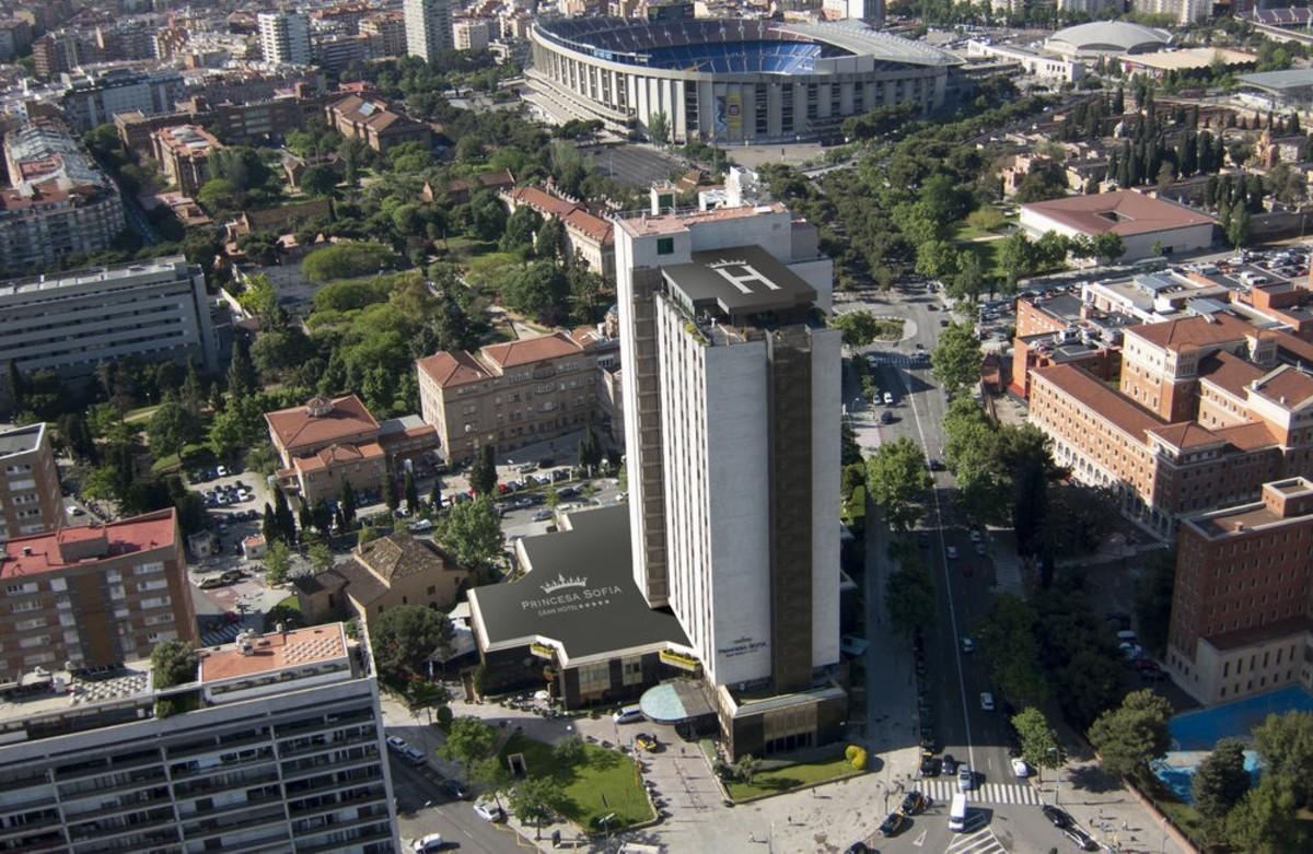 El Hotel Princesa Sofia de Barcelona.
