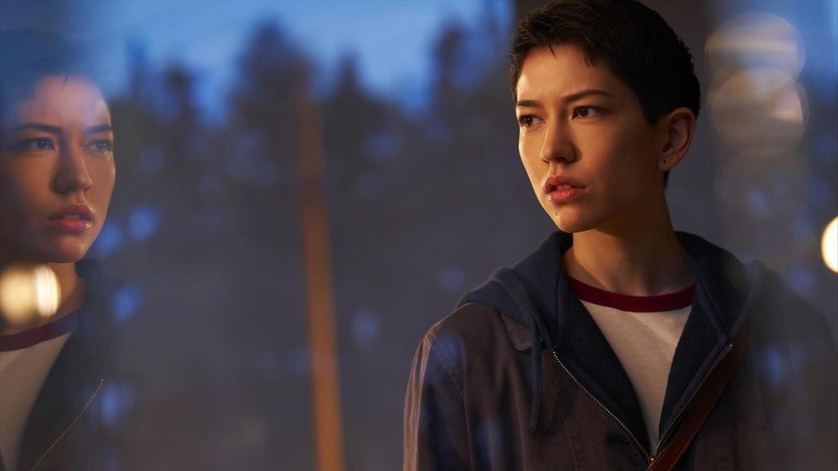 Sonoya Mizuno en una imagen de 'Devs'.