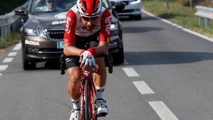 Thomas de Gendt, camino de su triunfo en Calella.