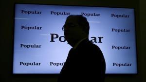 El expresidente del Banco Popular, Ángel Ron, durante la presentación de resultados del 2016.