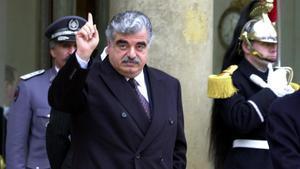 RaficHariri, en febrero del 2001, durante una visita oficial a París.